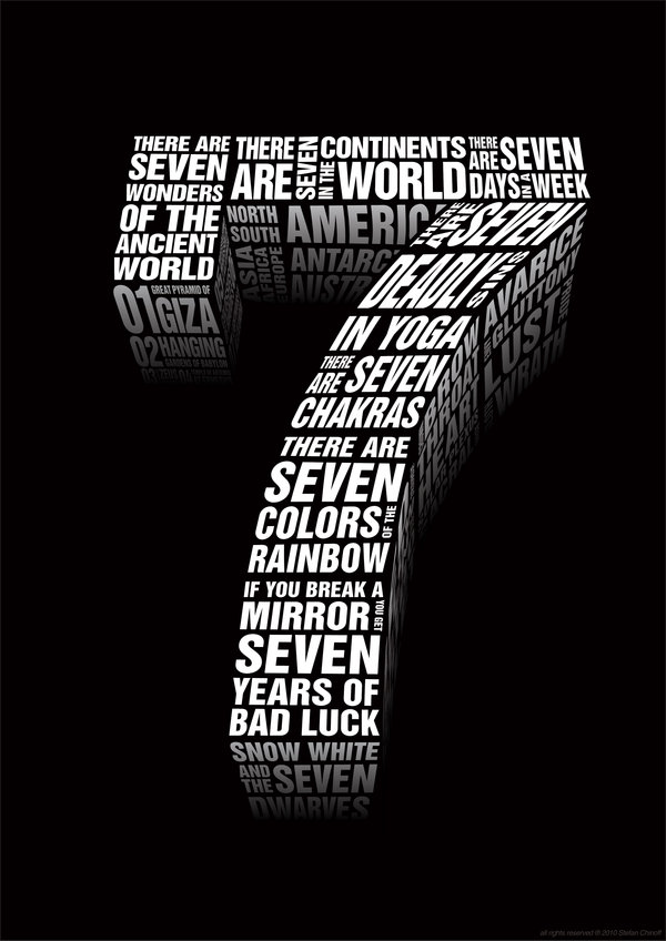 Typography by stefan chinof magic art world - Lucky number 7 wallpaper ...