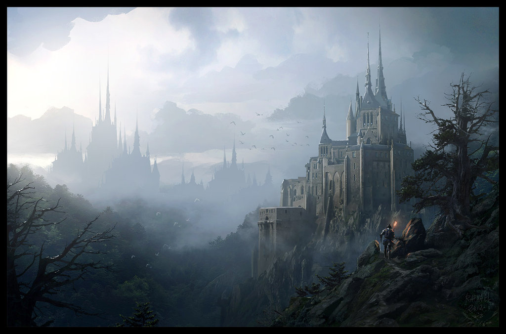 Matte Painting Of Raphael Lacoste Magic Art World