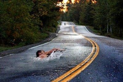 Imaginary swim.