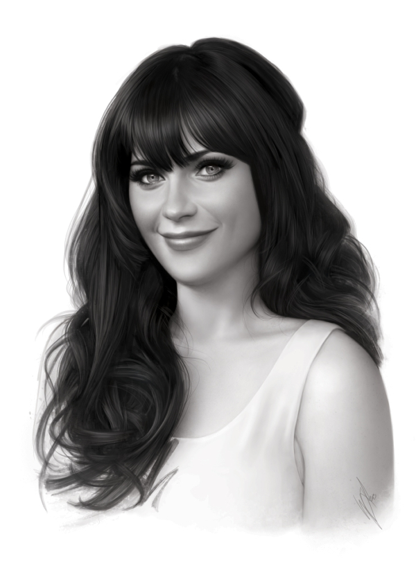 Zooey Deschanel by WarrenLouw