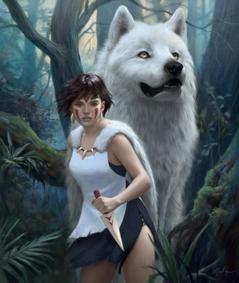 Wolves Girls And Wolf Girl: Illustrations By Ulyana Regener