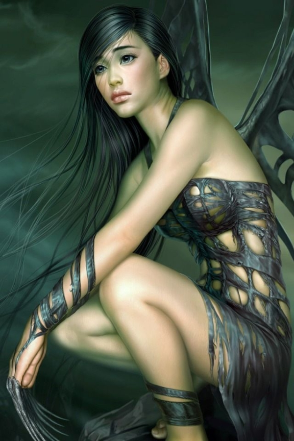 Beautiful warrior fairy