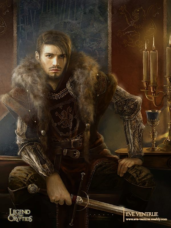 Male Fantasy Warrior, Iron gloves, fur, leather. Medieval.