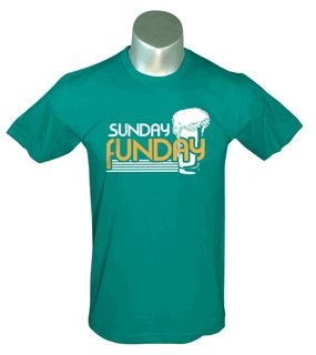 c8d9142c53a385eca23619bc878cea5a Sunday Funday- Green Men's Tee