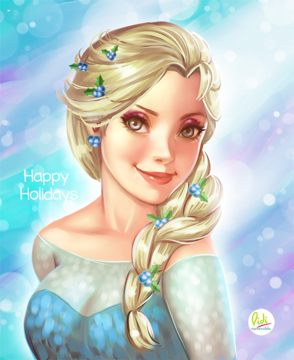 happy_holidays_fanart_elsa_by_didi_esmeralda-d8b386x
