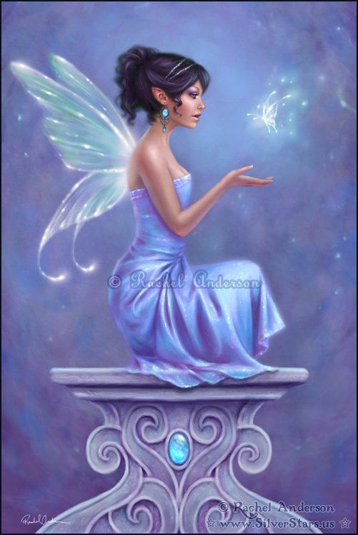 Fairy Butterfly Art Print Opalite (2)