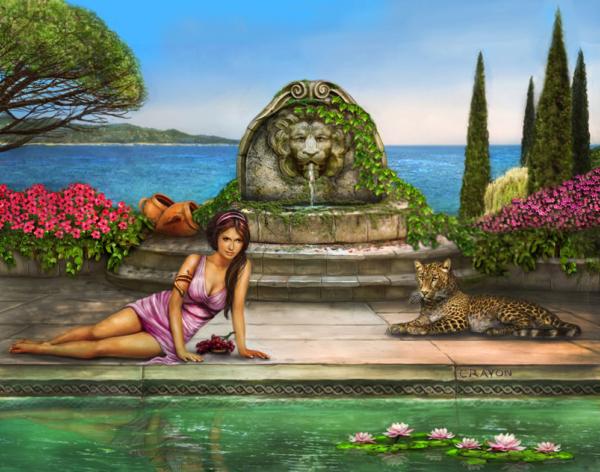 A Roman Garden Fantasy by Crayonmaniac