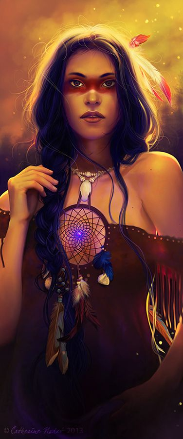 Indian Goddess, Native American, Dream Catcher, Divine Feminine, Gaia