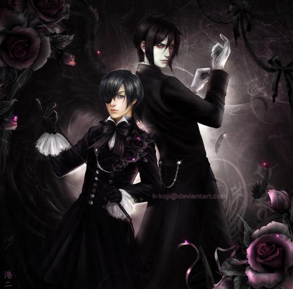 Kuroshitsuji Ciel and Sebastian by K-Koji