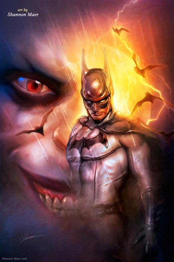 Batman-vs-Joker-by-Shannon-Maer