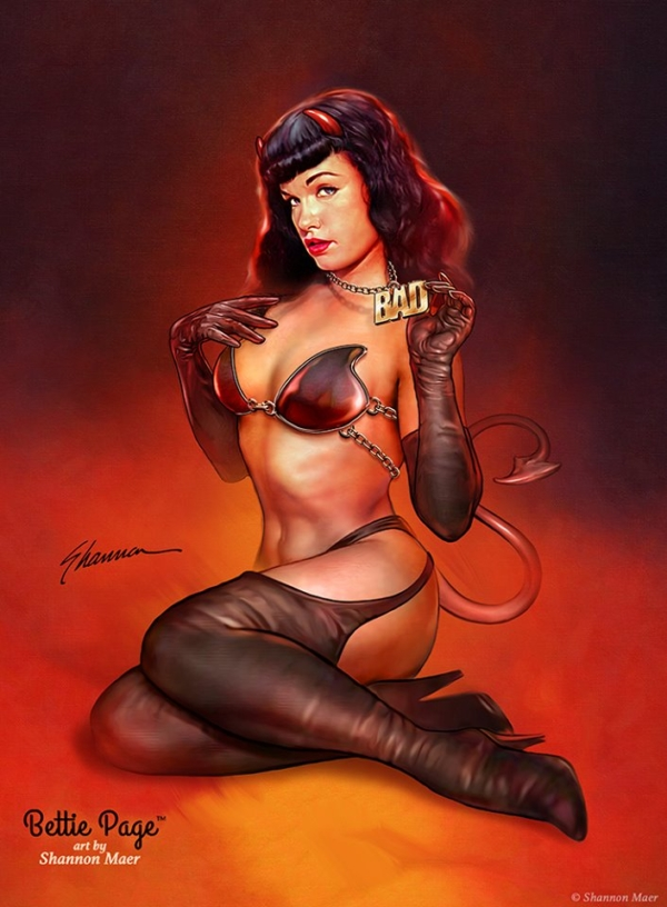 Bettie-Page-by-Shannon-Maer