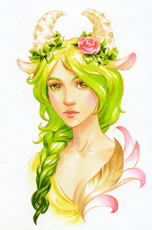 green_kosa_by_kir_tat