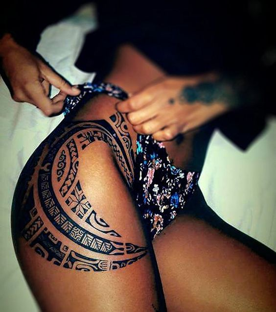 Exciting tattoos inspirations 1 magic art world - Tatouage maori cuisse ...