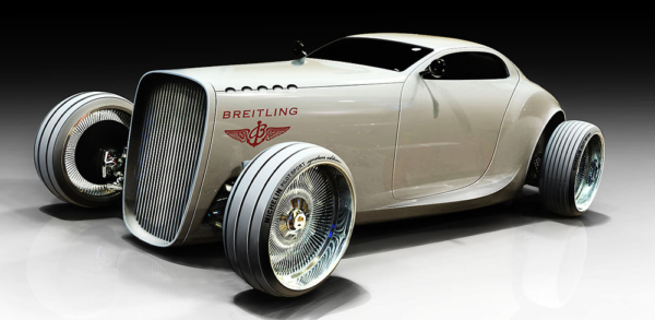 """Breitlingconcept car at """"TheGentleman's Racer"""".Inspired from the 1940′s classic race cars."""