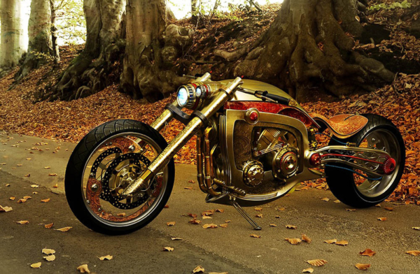 'Seraphim custom' – a solid gold motorcycle.