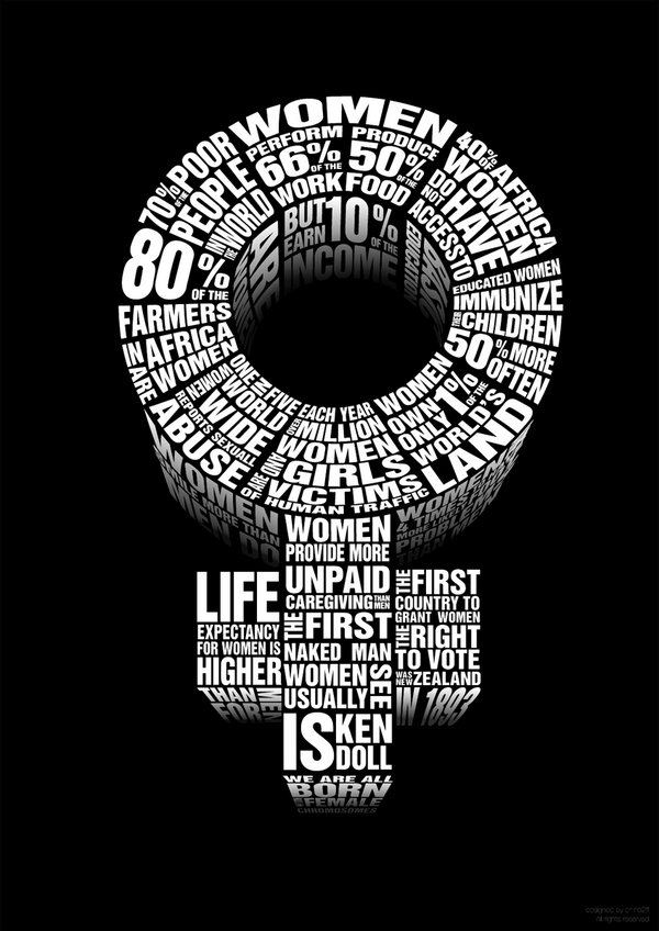 Universal symbol for women. Stories about women