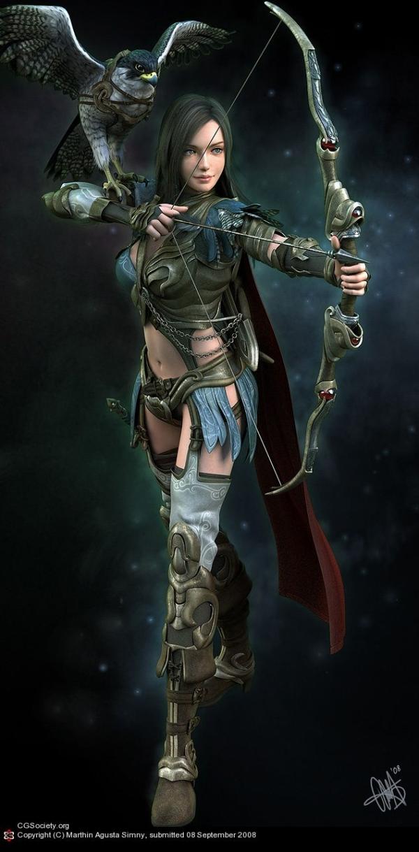 Helena the Archer by Marthin Agusta Simny
