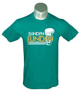 c8d9142c53a385eca23619bc878cea5a Sunday Funday- Green Men's Tee