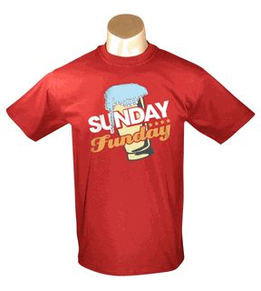 cb53975e8286f1d43c633fe816bda5db Sunday Funday- Red Men's Tee