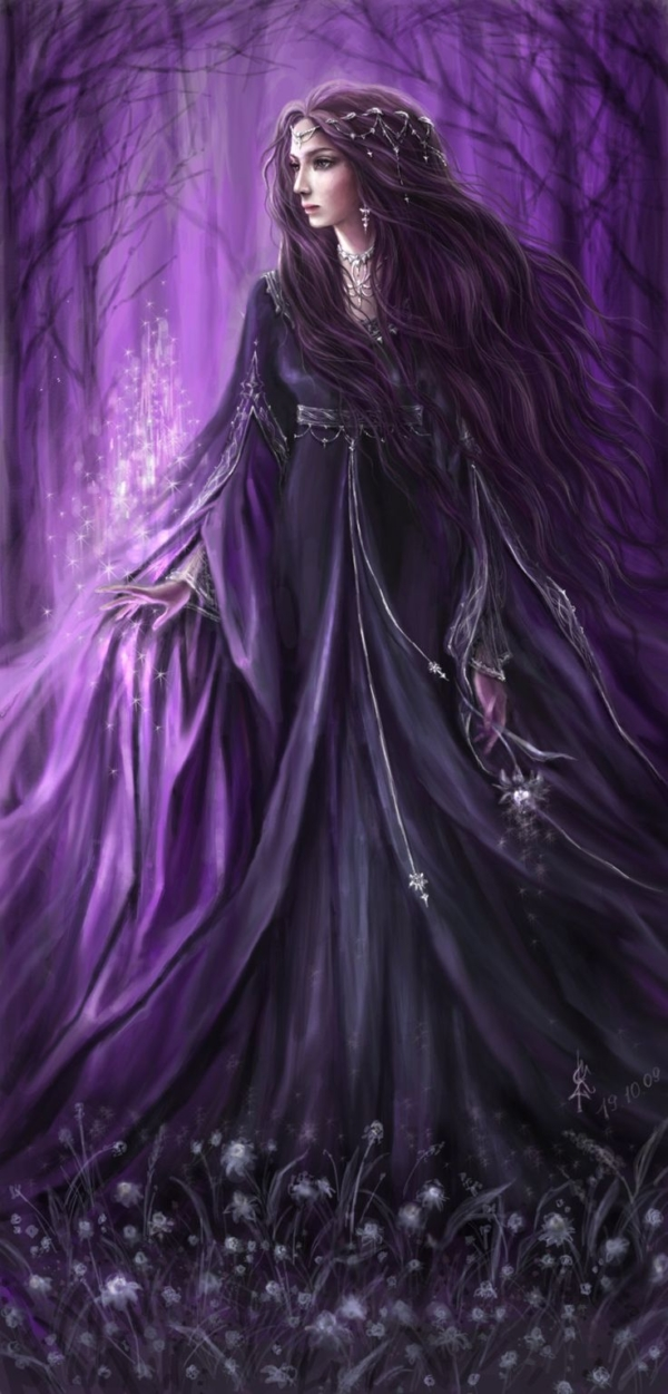 So peaceful!..she reminds me of Rhiannon - The Celtic Moon Goddess