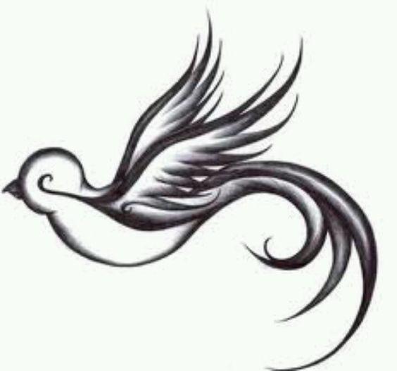Bird tattoo for shoulder