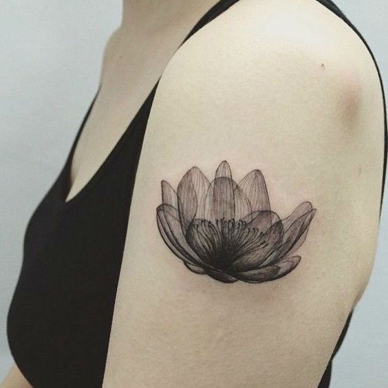 Dot flower tattoos