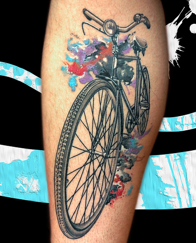 Squirrels Cycling Tattoo Collection
