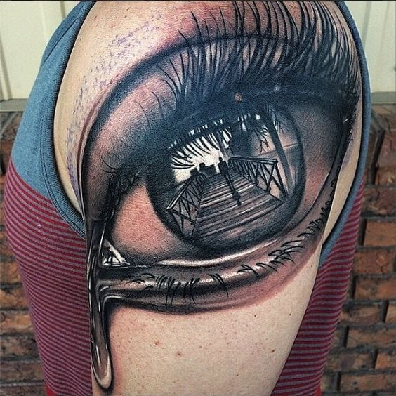 Eye on arm tattoo