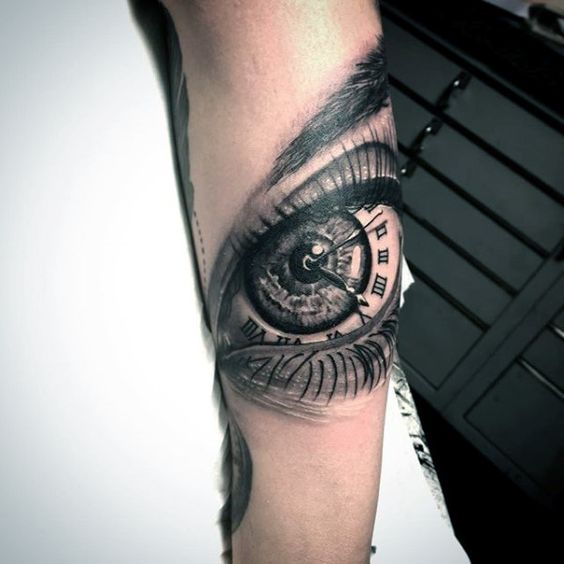 Guys Forearm Eye Tattoo