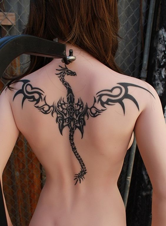 Meaningful Dragon Tattoo for Girls