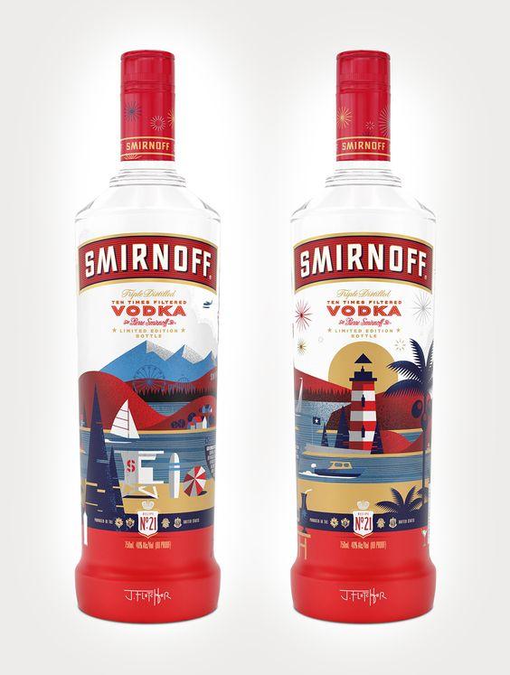 Smirnoff limited edition bottle