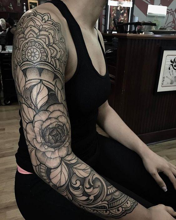 Full sleeve tattoo