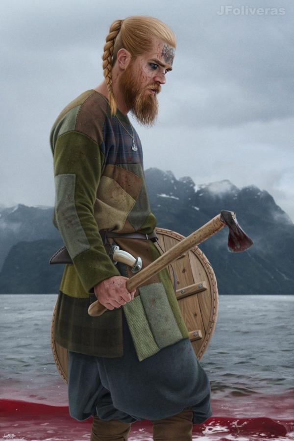 Norse warrior by JFoliveras