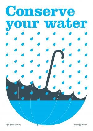 Conserve your water - Poster