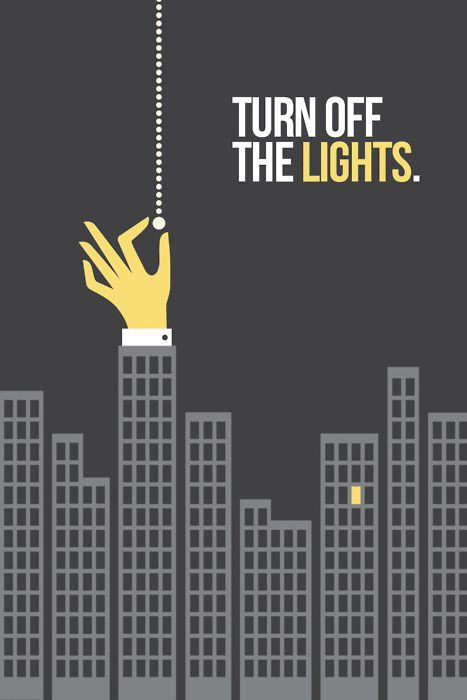 Turn Off the Lights - Poster by Jordan Young.