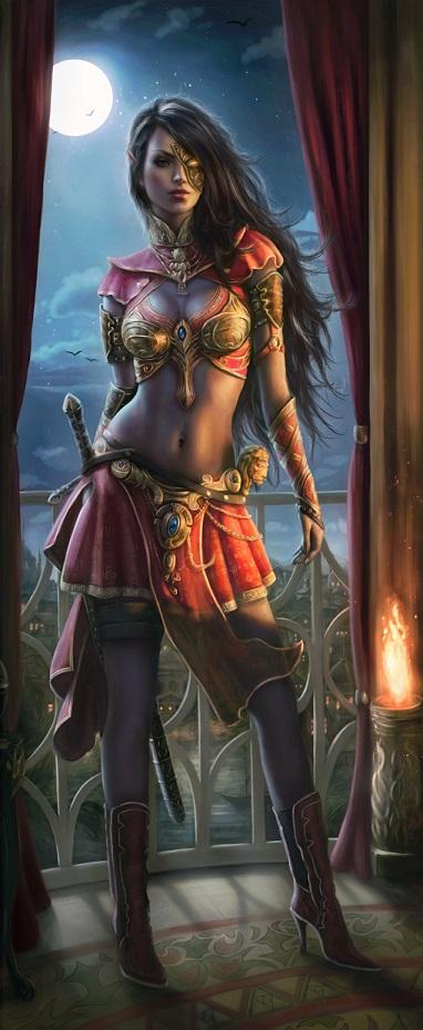 The Dark Elf Melandra by Jorsch