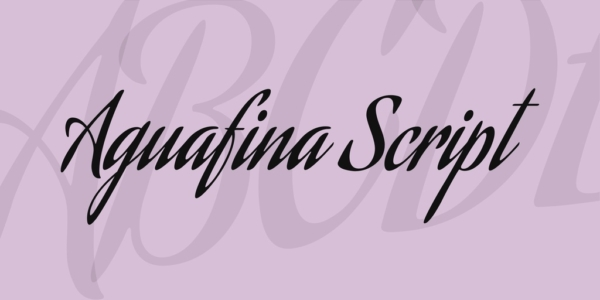 Aguafina-Script-font by SudTipos