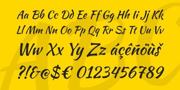 Kaushan script font by Pablo Impallari