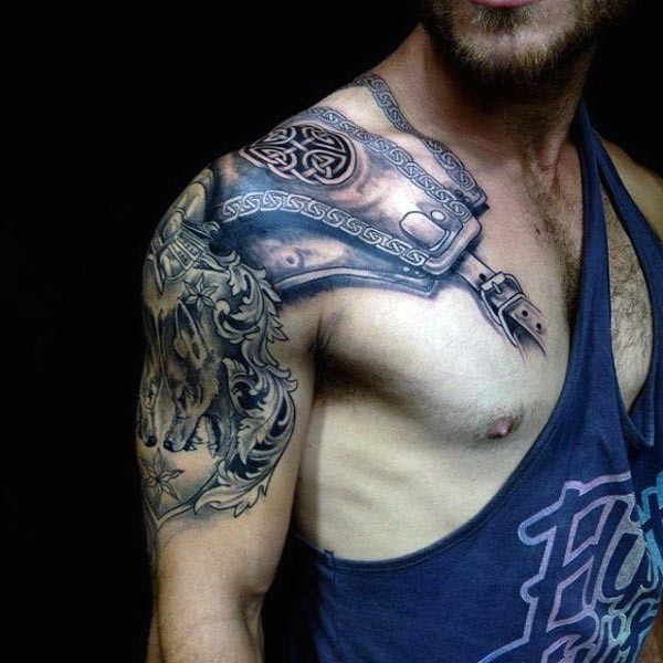 Celtic Armor Plate-Arm Tattoo