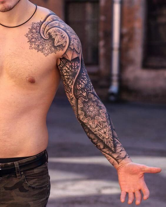 Mandala tattoo for men